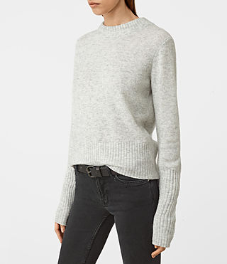 Womens Alpha Crew Neck Sweater (Mist Marl) - product_image_alt_text_3