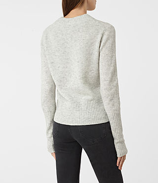 Womens Alpha Crew Neck Sweater (Mist Marl) - product_image_alt_text_4