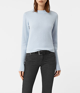 Womens Alpha Crew Neck Sweater (Powder Blue) - product_image_alt_text_1