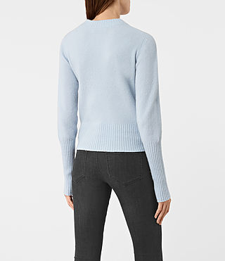 Women's Alpha Crew Neck Jumper (Powder Blue) - product_image_alt_text_4