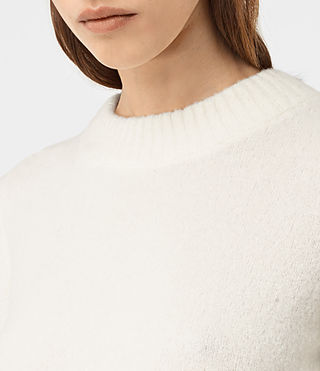 Women's Alpha Crew Neck Jumper (Chalk White) - product_image_alt_text_2