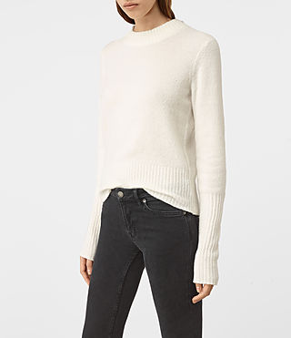 Femmes Alpha Crew Neck Jumper (Chalk White) - product_image_alt_text_3