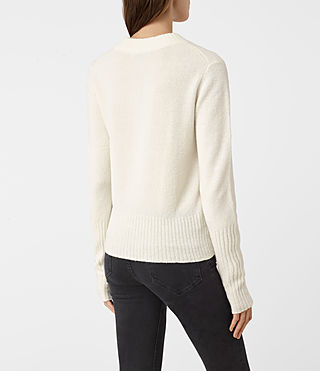 Women's Alpha Crew Neck Jumper (Chalk White) - product_image_alt_text_4