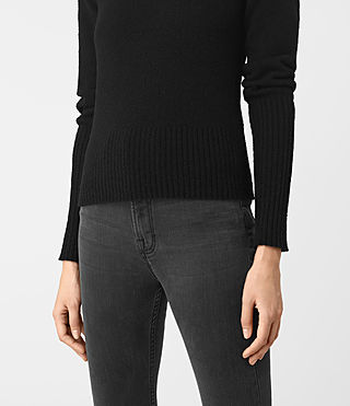 Womens Alpha Crew Neck Sweater (Black) - product_image_alt_text_2