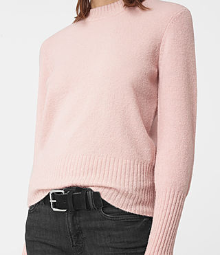 Damen Alpha Crew Neck Jumper (Powder Pink) - product_image_alt_text_2