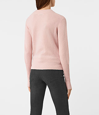 Damen Alpha Crew Neck Jumper (Powder Pink) - product_image_alt_text_4