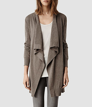 Womens Bernt Jaque Cardigan (Fawn Marl) - product_image_alt_text_1