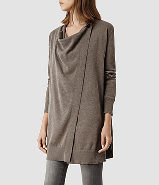 Womens Bernt Jaque Cardigan (Fawn Marl) - product_image_alt_text_2