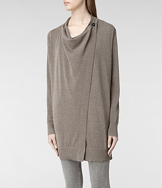 Womens Bernt Jaque Cardigan (Fawn Marl) - product_image_alt_text_4