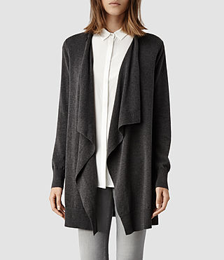 Womens Bernt Jaque Cardigan (Charcoal)