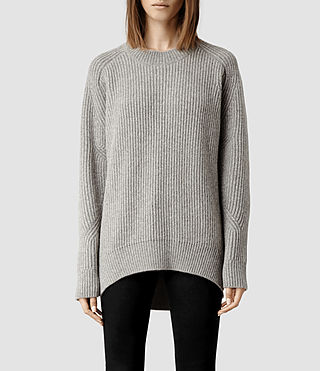Womens Walkon Sweater (Grey/Silver)