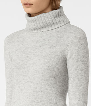 Womens Alpha Roll Neck Sweater (Mist Marl) - product_image_alt_text_2