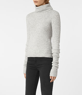 Womens Alpha Roll Neck Sweater (Mist Marl) - product_image_alt_text_3