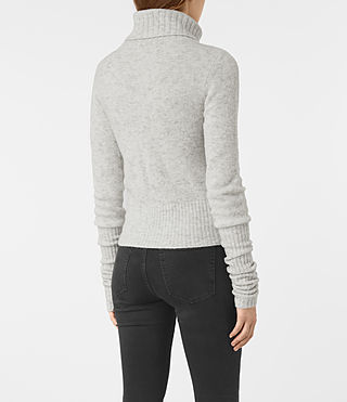 Mujer Alpha Roll Neck (Mist Marl) - product_image_alt_text_4
