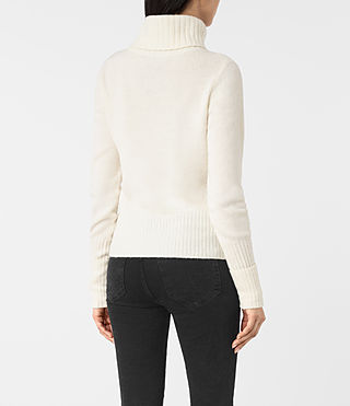 Mujer Alpha Roll Neck Sweater (Chalk White) - product_image_alt_text_4