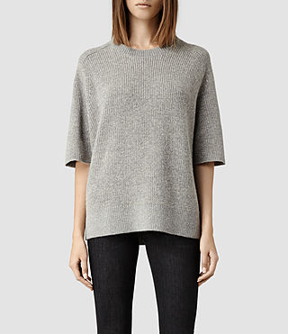 Womens Walkon Knit Tee (Grey/Silver)