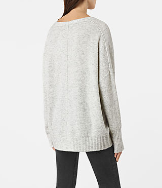 Womens Alpha V-Neck Sweater (Mist Marl) - product_image_alt_text_3