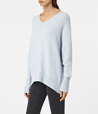 Mujer Alpha V-Neck Sweater (Powder Blue) - product_image_alt_text_2