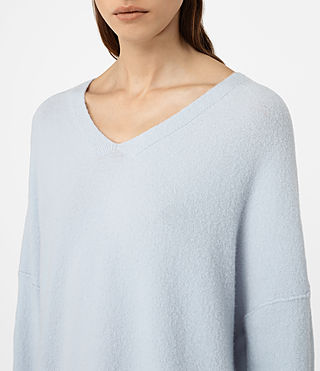 Mujer Alpha V-Neck Sweater (Powder Blue) - product_image_alt_text_3