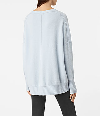 Mujer Alpha V-Neck Sweater (Powder Blue) - product_image_alt_text_4
