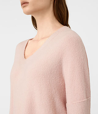 Damen Alpha V-Neck Jumper (Powder Pink) - product_image_alt_text_2