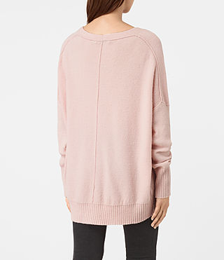 Damen Alpha V-Neck Jumper (Powder Pink) - product_image_alt_text_4
