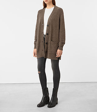 Damen Alpha Cardigan (ALPACA BROWN)