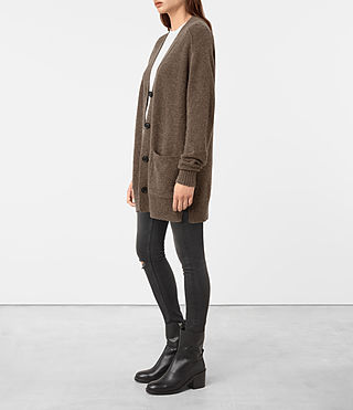 Womens Alpha Cardigan (ALPACA BROWN) - product_image_alt_text_3