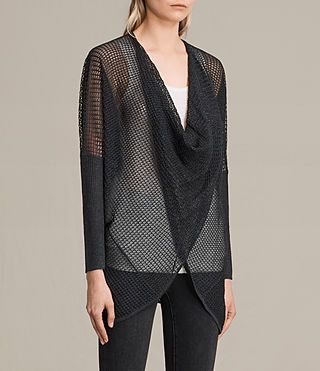 Womens Itat Levita Shrug (Charcoal) - product_image_alt_text_2