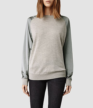 Womens Agi Sweater (Cement Marl/Silver)