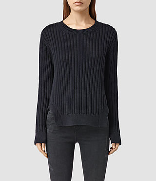 Womens Wick Rib Sweater (Ink Blue)