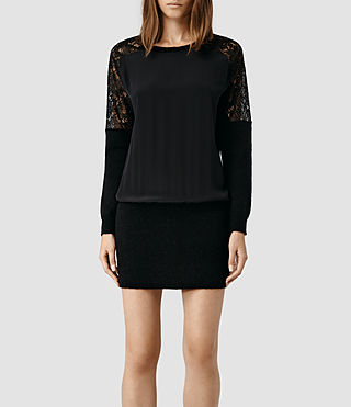 Womens Taya Sweater Dress (Black Multi)