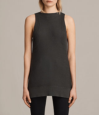 Mujer Arleta Knitted Vest (SMOKE BLACK) - product_image_alt_text_1