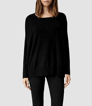 Womens Maher Jumper (Black/Cinder)