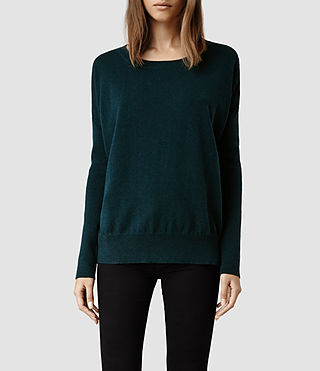 Womens Maher Jumper (Petrol/Teal)