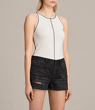 Damen Joni Top (ANTIQUE WHITE/INK) - product_image_alt_text_2