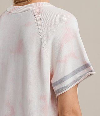 Womens Janis Short Sleeve Sweater (PETAL PINK) - product_image_alt_text_2