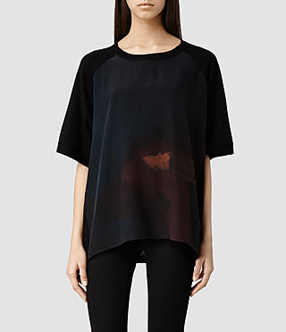 Women's Ochre Panel Tee (Ochre)