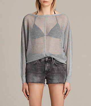 Womens Elle Levita Sweater (Light Grey) - product_image_alt_text_1