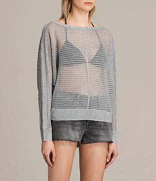 Womens Elle Levita Sweater (Light Grey) - product_image_alt_text_2
