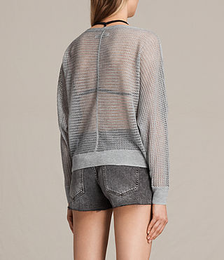 Womens Elle Levita Sweater (Light Grey) - product_image_alt_text_3
