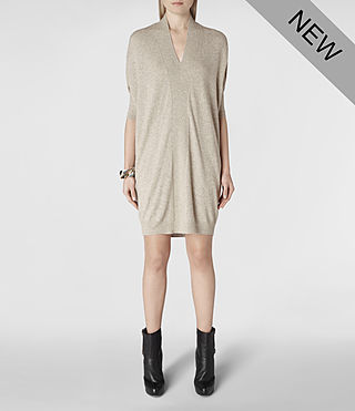 Womens Blaize Sweater Dress (Oat) - product_image_alt_text_1