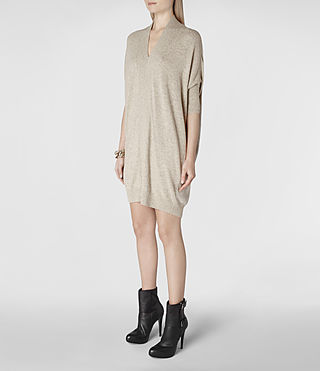Womens Blaize Sweater Dress (Oat) - product_image_alt_text_2