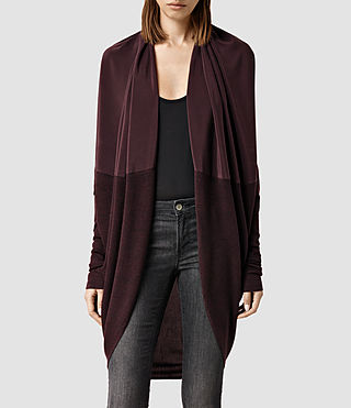 Womens Silk Itat Shrug (Bordeaux)