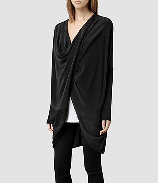 Womens Silk Itat Shrug (Cinder Marl)