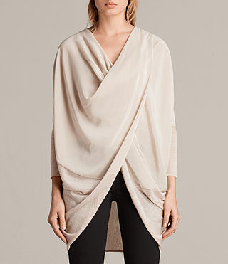 Damen Silk Itat Shrug Cardigan (QUARTZ PINK MARL)