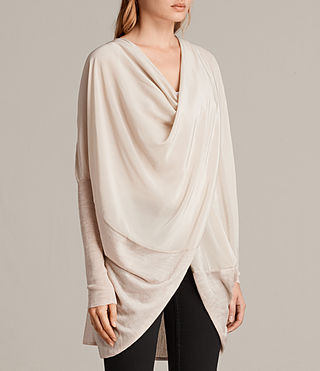 Mujer Silk Itat Shrug Cardigan (QUARTZ PINK MARL) - product_image_alt_text_2