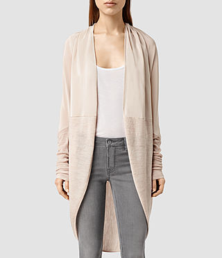 Womens Silk Itat Shrug Cardigan (QuartzPinkMarl)