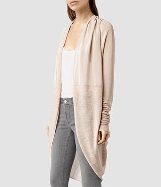 Womens Silk Itat Shrug Cardigan (QuartzPinkMarl) - product_image_alt_text_2