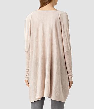 Womens Silk Itat Shrug Cardigan (QuartzPinkMarl) - product_image_alt_text_3